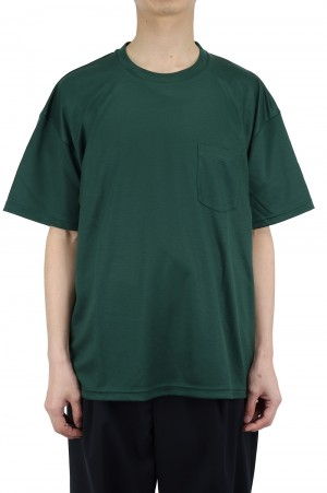 Stein -Men- OVERSZED POCKET TEE -LYOCELL-GREEN- (ST.261)