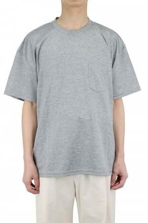 Stein -Men- OVERSZED POCKET TEE -LYOCELL-GREY- (ST.261)