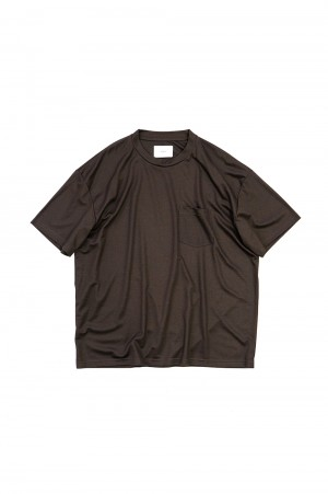 Stein -Men- OVERSZED POCKET TEE -LYOCELL-BROWN- (ST.261)