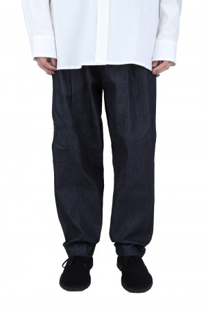 is-ness WIDE CHINO PANTS -DENIM-(16PT02T02)