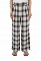 Pheeny Rayon ombre check 2 tuck slacks-BROWN(PS21-PT08)