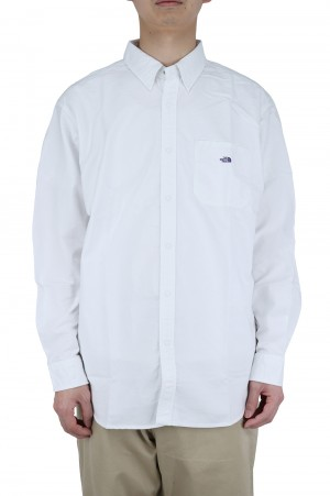 The North Face Purple Label - Men - Cotton Polyester OX B.D. Shirt - White (NT3118N)