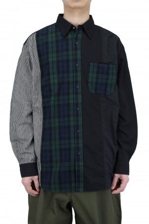 The North Face Purple Label - Men - Plaid Patchwork Shirt - Black (NT3101N)