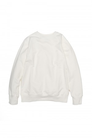 The North Face Purple Label - Men - 10oz Mountain Crew Neck Sweat - Off White (NT6903N)