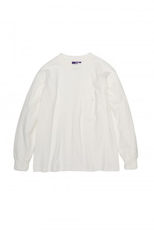 The North Face Purple Label - Men - 7oz L/S Pocket Tee - Off White (NT3102N)