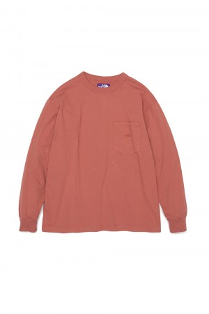 The North Face Purple Label - Men - 7oz L/S Pocket Tee - Canyon Clay (NT3102N)