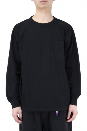 The North Face Purple Label - Men - 7oz L/S Pocket Tee - Black (NT3102N)
