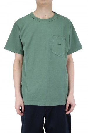 The North Face Purple Label - Men - 7oz H/S Pocket Tee - Grass Green (NT3103N)