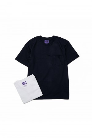 The North Face Purple Label - Men - Pack Field Tee - White × Navy (NT3906N)