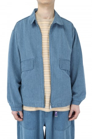 The North Face Purple Label - Men - Denim Field Jacket - Indigo Bleach (NP2106N)