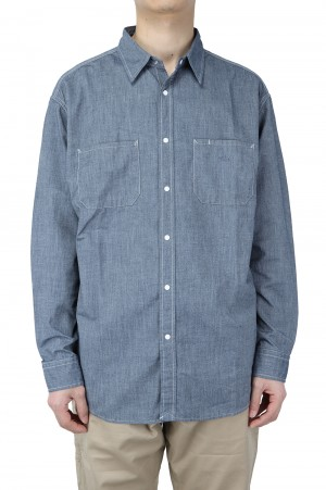 The North Face Purple Label - Men - Dungaree Denim Shirt - Indigo (NT3104N)