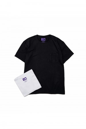 The North Face Purple Label - Men - Pack Field Tee - White × Black (NT3906N)