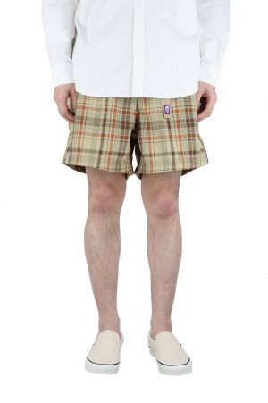 The North Face Purple Label - Men - Madras Field Shorts - Beige (NT4101N)