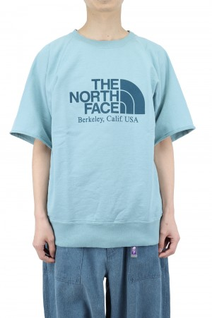 The North Face Purple Label - Men - 10oz H/S Crew Neck Sweat - Steel Blue (NT6101N)