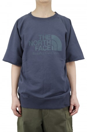 The North Face Purple Label - Men - 10oz H/S Crew Neck Sweat - Vintage Navy (NT6101N)