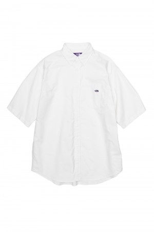 The North Face Purple Label - Men - Cotton Polyester OX B.D. Big H/S Shirt - White (NT3110N)