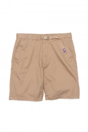 The North Face Purple Label - Men - Stretch Twill Shorts - Tan (NT4102N)