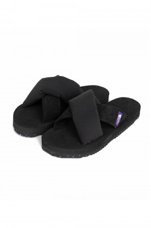The North Face Purple Label - Men - Lounge Nuptse Sandal - Black (NF5100N)