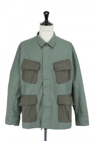Wild Things BACKSATIN FIELD JACKET - OLIVE DRAB (WT21005AD)