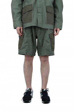 Wild Things BACKSATIN FIELD CARGO SHORTS - OLIVE DRAB (WT21008AD)