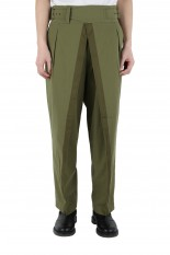 MAINU Hard Twisted Yarn Double Front Ghurkha  Pants(152108)