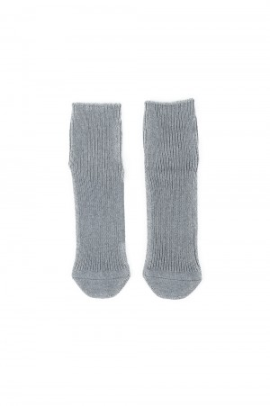 N.hoolywood SHORT SOCKS-GRAY-(TPES-AC12)