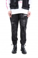 LEGENDA Tie-Dye Sweat Pants -BLACK(LEP198)
