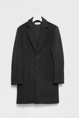 Vanquish Narrow Wool Chester Coat -BLACK(VJJ045)