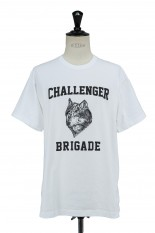 Challenger WOLF COLLEGE TEE -WHITE (CLG-TS 021-006)