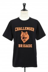 Challenger WOLF COLLEGE TEE -BLACK (CLG-TS 021-006)