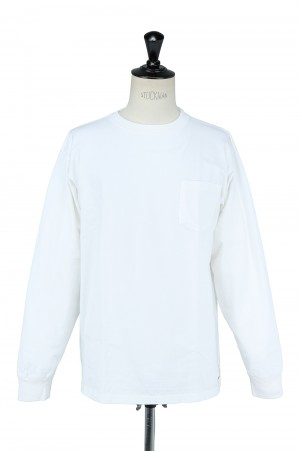 Standard California SD HEAVY WEIGHT POCKET LS   - WHITE