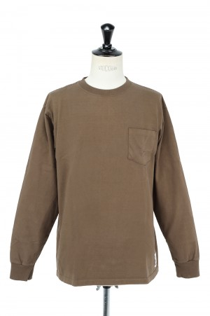 Standard California SD HEAVY WEIGHT POCKET LS   - BROWN