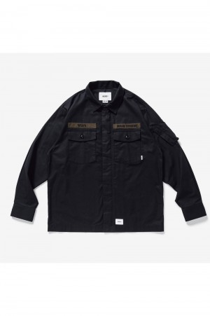 Wtaps FLYERS / LS / COTTON. WEATHER (211BRDT-SHM03)