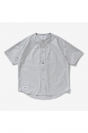 Wtaps LEAGUE / SS / COTTON. OXFORD (211TQDT-SHM06)