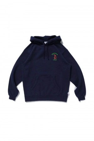 Wtaps 【SPOT ITEM】 DTOM / SCREEN SWEAT HOODIE / NAVY (192ATDT-HP02S)