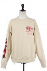LEGENDA STARTER Black Label×LEGENDA Rose Sweat Shirts -BEIGE (LEC979)