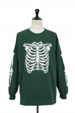 Masses T-SHIRTS L/S SKELTON / FOREST GREEN