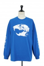 Masses T-SHIRTS L/S SKULL RAT  / ROYAL