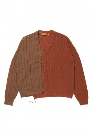 Studio Seven Docking Knit Cardigan/Brown(70864397)