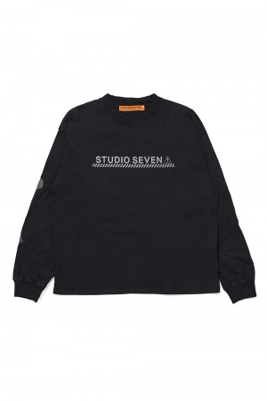 Studio Seven BONE LS Tee/Black(70864402)