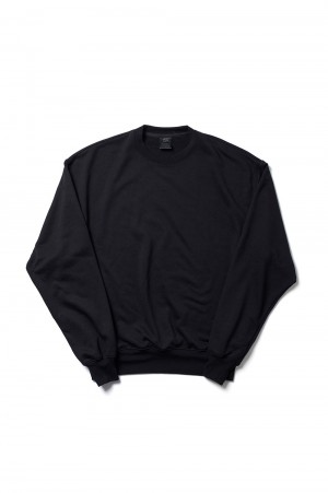 DAIWA PIER39 Tech Sweat Crew - BLACK (BE-53021)