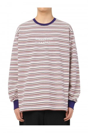 Thisisneverthat Striped LS Top / Red(TN21SLS010)