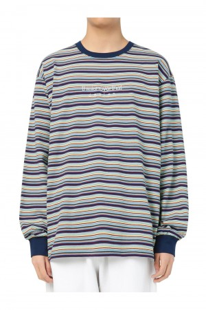 Thisisneverthat Striped LS Top / Navy(TN21SLS010)