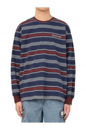 Thisisneverthat Onyx Striped LS Top / Navy&Red(TN21SLS011)