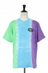 Thisisneverthat Vertical Tie Dye Tee/Green&Blue&Purple(TN21STS027)
