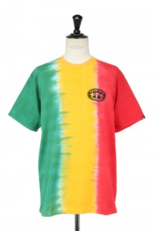 Thisisneverthat Vertical Tie Dye Tee/Green&Yellow&Red(TN21STS027)
