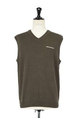 Thisisneverthat T-Logo Knit Vest/Olive(TN21SKW007)