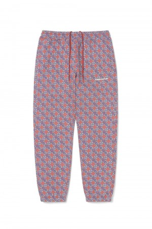 Thisisneverthat Tile Sweatpant / Burgundy&Navy(TN21SPA017)