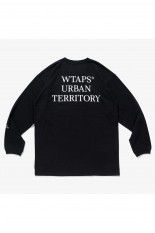 Wtaps 【SPOT ITEM】 URBAN TERRITORY / SCREEN LS TEE - BLACK (211ATDT-LT02S)