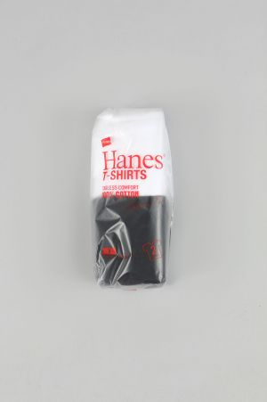 Hanes 2P Japan Fit V Neck T-Shirt - WHITE/BLACK (H5125)